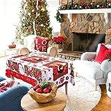 WISFORBEST Mantel Navideño Rectangular - Patrón de Papá Noel - Mantel Mesa para Navidad Decoración de Fiesta - Mantel Antimanchas (243 x146cm)