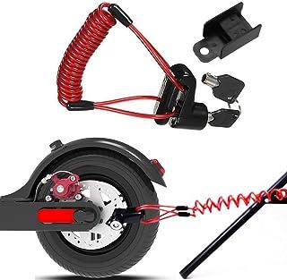 GOZAR Scooter Elettrico Antifurto in Acciaio Wire Lock Freni A Disco Ruote Locker per Xiaomi Mijia M365 Rosso