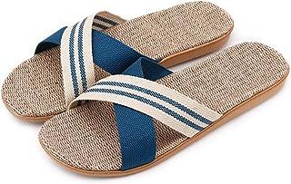 Zapatillas de Estar por Casa de Mujer/Hombre de Lino Zapatillas Interior Sandalias Unisex para Verano Primavera Otoño
