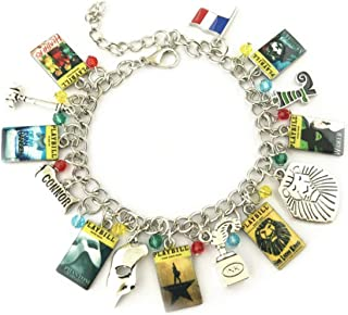 Broadway Musicals Charm Bracelet Quality Cosplay Jewelry Broadway Musical Series with Gift Box