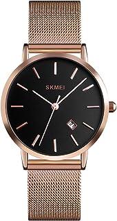 Women's Classic Date Analog Watch Simple Fashion Waterproof Quartz Watches for Women Casual Unisex Ladies Wrist Watch Stai...