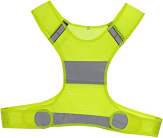 MagiDeal High Visibility Safety Vest, Outdoor Night Running Jogging Bike Cycling Work Construction Traffic Warehouse Security Reflective Vest Jacket - 2 Colors