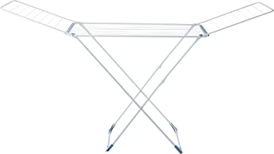 Gimi Top Super Floor clothes dryer in steel, 20 m drying length