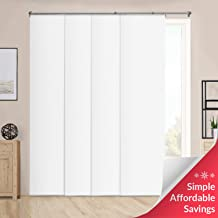 CHICOLOGY Cordless, Adjustable Sliding Panels, Cut to Length Vertical Blinds, Performance White (Room Darkening) -Up to 80