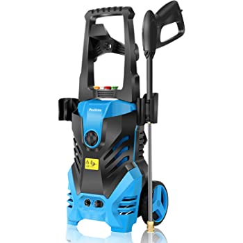 Pressure Washer, 3000PSI Electric Pressure Washer, 1.8GPM Electric Power Washer High Pressure Washer with Spray Gun, Brush, and 4 Quick-Connect Spray Tip, Blue