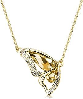 Mestige Gold Plateden Shadow Monarch Necklace for Women