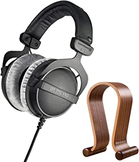 $169 » beyerdynamic 459046 DT 770 PRO 250 Ohms Studio Headphones Bundle with Deco Gear Wood Headphone Display Stand Secure Tabletop Holder Gaming Headset Hanger