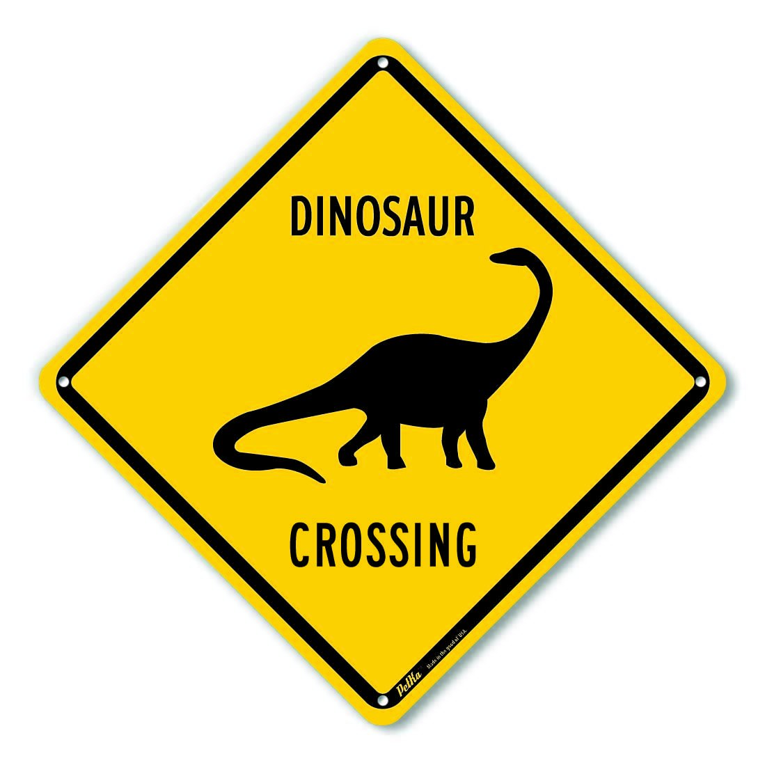Petka Signs And Graphics Pkac 0159 Na 10x10 Petka Signs And Graphics Pkac 0159 Na Dinosaur Crossing Aluminum Sign Black Text With Yellow Background 10 X 10 Black Text With Yellow Background Amazon Com Industrial Scientific