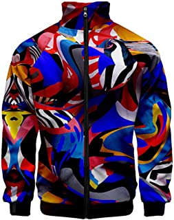 Slim Fit Tops for Men Graffiti Colorful 3D Printed Sportswear Blouse Casual Jacket Muscle Workout Coats Outwear WEI MOLO