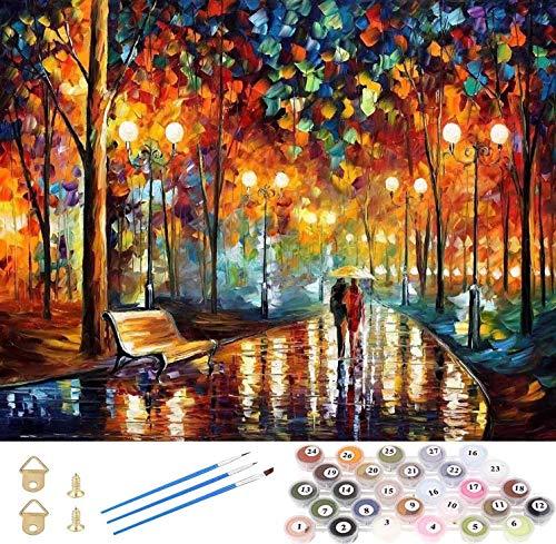 Tenwind Pintar por números para adultos,DIY Paint by numbers,Pintura por Números con Pinceles y regalo para amigo, festival, cumpleaños, hogar decoración de casa (sin marco) 40 x 50 cm