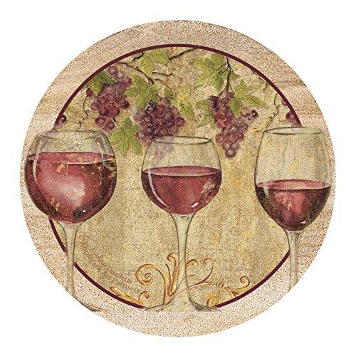 Thirstystone Drink Coaster Set, Wine Harvest II