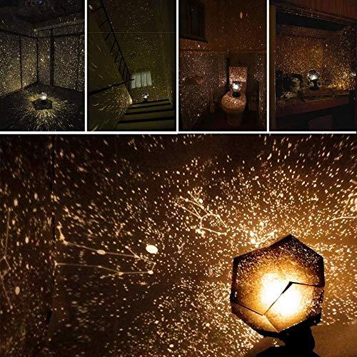 Planetario Original de 60,000 Estrellas, proyector de Estrellas Brillantes, lámpara de luz romántica Cosmos Lámpara de Noche de proyección de sueño romántico Gypsophila