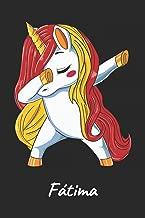 Fátima: Cuaderno de notas blanko para niña y mujer con nombre personalizado y diseño de kawaii cuaderno unicornio bailarin con pelo en los colores de ... de cumpleaños y navidad. (Spanish Edition)