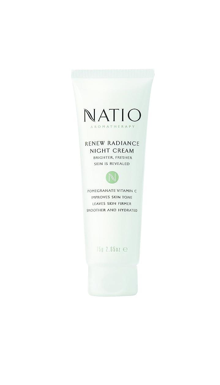 誤解を招く冷蔵庫請負業者Natio Renew Radiance Night Cream 75g