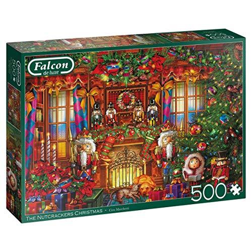 Jumbo Nutcrackers Piece Jigsaw Falcon de luxe – The Noci Schiaccianoci Christmas Puzzle 500 pezzi, Multicolore, 11272