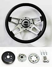 Jeep CJ YJ Wrangler Cherokee Grant Black 4 spoke Steering Wheel 13 1/2