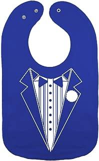 We Match! Unisex-Baby - Classic Tuxedo Thick PREMIUM 2-Ply Cotton Baby Bib With Snaps