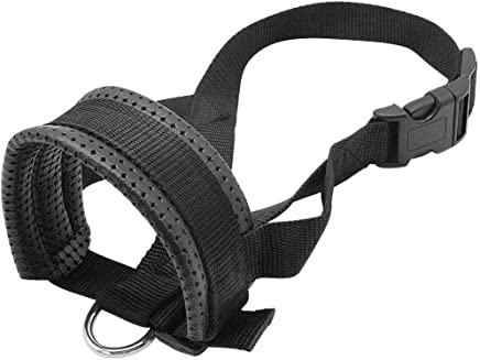 meizhouer Soft Padded Pet Head Collar Champion Dog Training Halter Nylon Dog Muzzle Loop Stops Dog Pulling Training Tool (XL)