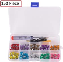 Katzco 150 Piece - Mini and Regular/ATM ATC Car Fuse Kit – Auto Blade Fuse Assortment - Color Coded for Different Amps – 147 Fuses, Alligator Clip, Electric Tester, Tweezer Fuse Puller