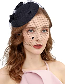 Best vintage black hat with netting veil Reviews