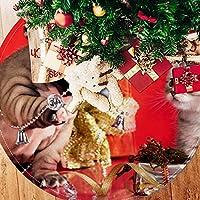 ツリースカート クリスマスツリースカート 犬 ねこ クリスマス ホリデーデコレーション メリイクリスマス飾り 下敷物 可愛い 雰囲気 クリスマスパーティー 直径77cm