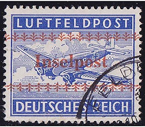 Goldhahn Deutsches Reich Feldpost Nr. 7A Veste Kreta gestempelt Briefmarken für Sammler