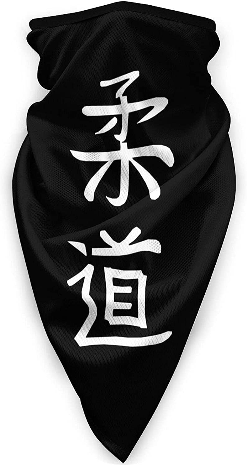 Judo Symbol Neck Gaiter Bandnas Face Cover Uv Protection Prevent bask in Ice Triangle Scarf Headbands Perfect for Motorcycle Cycling Running Festival Raves Outdoors Black