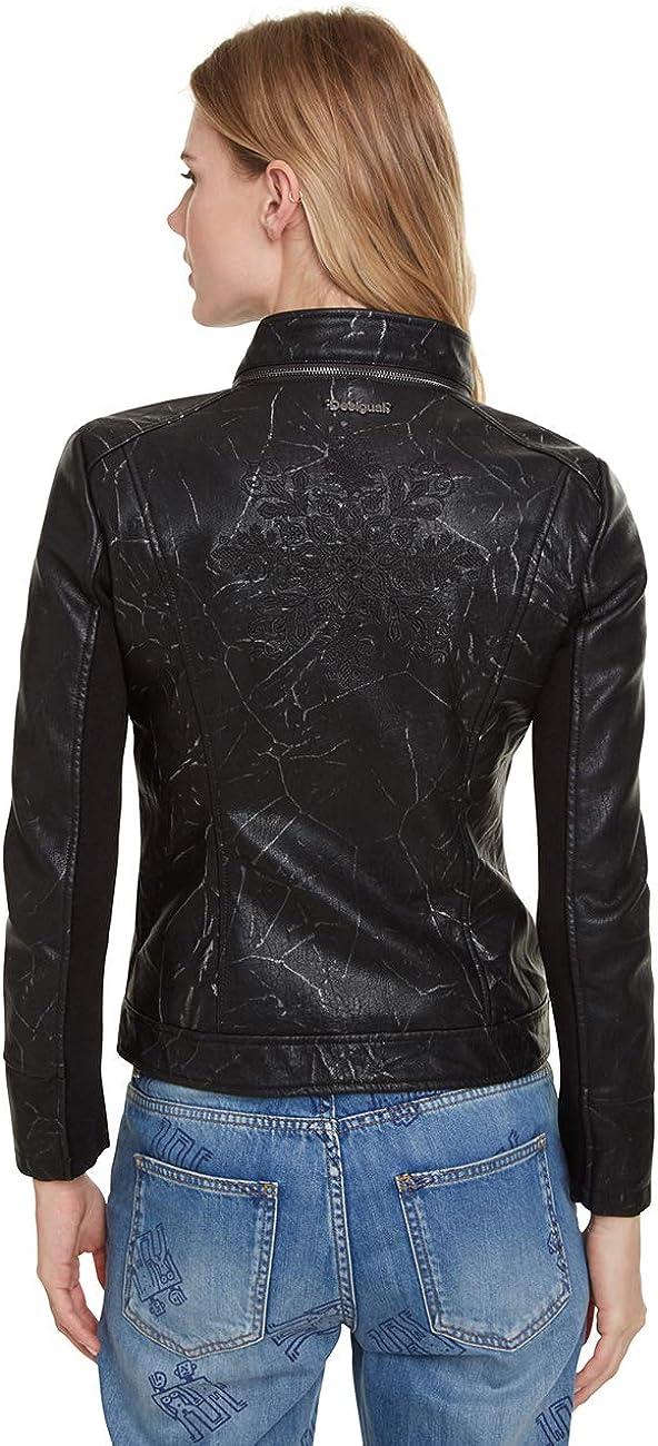 Desigual Damen Coat Dante Mantel Schwarz (Negro 2000)