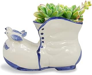 Dahlia Blue White Shoe Ceramic Succulent Planter/Plant Pot/Flower Pot/Bonsai Pot #2