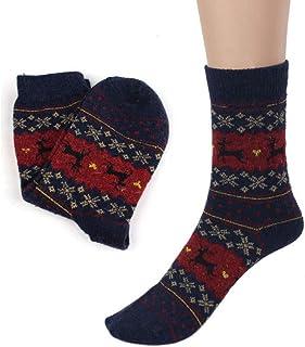 Calcetines De Mujer Calcetines De Invierno para Hombre, Calcetines para Mujer, Calcetines Gruesos De Punto Casual, Calcetines Elásticos hasta La Rodilla, Talla Única