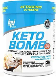 BPI Sports Keto Bomb - Ketogenic Coffee Creamer, Supports Weight Loss, Energy, Hydration, Performance, Contains MCTs & Ele...