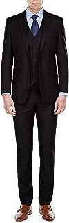 Mens Suit Slim Fit Formal Business 3-Piece Wedding Suit Notch Lapel Jacket Vest Trousers