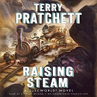 Raising Steam audiobook cover art