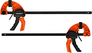 Quick Release Ratchet Bar Clamps for Woodworking (2 Pieces Set 24'') - Light Duty Adjustable Handi-Clamp for Woodworking & Furniture Manufacturing & Assembly by Neocraft