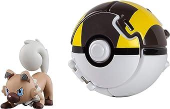 Pokémon Battle Action Figure and Pokemon Ball Game for Children's Toy Set (Rockruff)