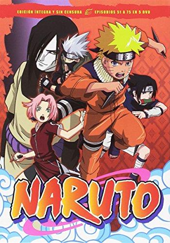 Naruto Box 3 Episodios 51 A 75 [DVD]