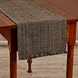 Park Designs Tweed 13 Inches x 36 Inches Poly Loop Yarn Table Runner Kitchen Linens Charcoal