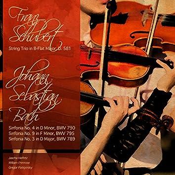 Bach & Schubert: String Trios & Sinfonias
