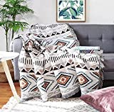 Homesy Southwest Throw Blankets Double Sided Aztec Southwest Throws 51'x71' Cover Multi-Function for Couch Chair Sofa Bed Outdoor Beach Travel