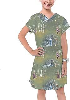 Rainbow Rules Enchanted Forest Frozen 2 Disney Inspired Girls Cotton Hoodie Dress Drop Waist