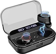LAMA Bluetooth 5.0 Wireless Earbuds IPX7 Waterproof TWS Hi-Fi Stereo Headphones in-Ear, 4000mAH [Wireless Charging Case], Built-in Mic Headset Premium Sound with Deep Bass for Sport