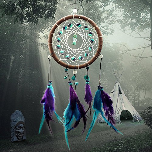 Dream Catcher Decor, Marsway 2017 Creative India Style Dreamcatcher With Feather Wall Hanging Hanging Ornament Craft Gift Blue Purple