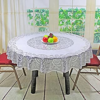 LIAN Round Tablecloth European Bronzing PVC Tablecloths Waterproof and Oilproof Plastic Hotel Table Cloth Wipe Clean Table Cover(Size: 150cm, 180cm) (Color : J-150cm)