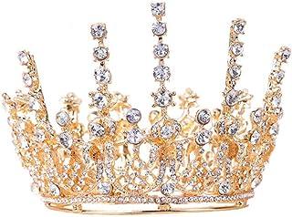 YNYA Tiare Sposa Corona Completa Cerchio Rotondo Accessori per Capelli Strass Nozze Capelli Accessori Abito da Sposa Coron...