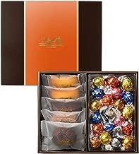 リンツ (Lindt) チョコレート 焼き菓子ギフト [ 焼き菓子 5個 リンドール 20個 ] 個包装 ショッピングバッグM付