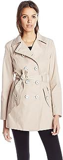 Jessica Simpson Women's Double-Breasted Raincoat