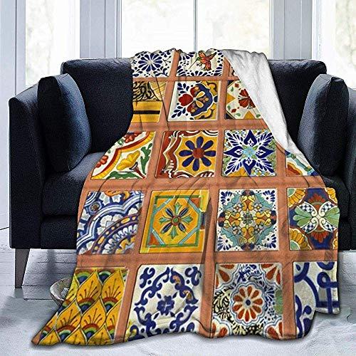 Nazi Mie Superweiche Deckfolie, Poncho Deckfolie - Talavera Mexican Tiles