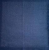 Sashiko   Kit de bordado Japonés   Tela de 68cm x 34cm pre-estampada (30cm x 30cm)   Hilo natural especial para Sashiko   Aguja larga   Instrucciones de bordado   de Delicatela (Índigo (Zigzag))