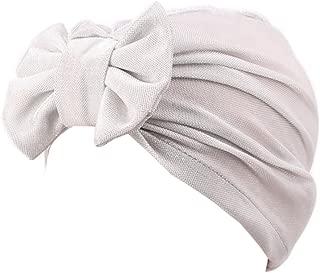 Vovotrade/® Mujer Nudo de Proa Bowknot musulm/án Volante Fruncido C/áncer Chemo Sombrero Gorrita Bufanda Turbante Cabeza Envolver Gorra Algod/ón