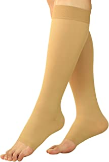 BeVisible Sports Maternity Compression Socks - Pregnancy Stockings & Leggings Knee High Open Toe